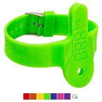 Силиконовый браслет для ключей с кармашком
