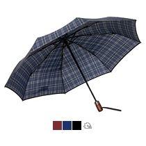 Зонт складной «Wood Classic S» с прямой ручкой, автомат, 3 сложения