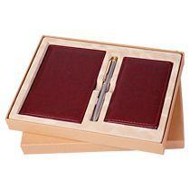 Подарочный набор «Клерк»: Ежедневник А6, горизонтальная визитница, записная книжка, ручка, флокированный ложемент