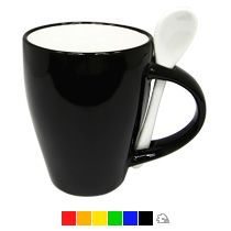Артикул: CRM106C-35 Объем: 300 мл Материал: керамика Размер: d82x95 мм Оригинальные кружки: кружка с ложкой Форма: конусная 160,34 руб.  при тираже 500 шт.