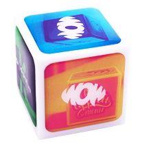Кубик-визитка с объемными наклейками