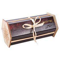 Подарочная шкатулка шестигранная с лентой
