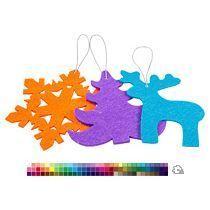Набор елочных игрушек из фетра «Волшебный лес»