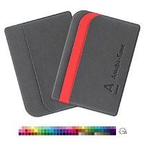 Футляр для кредитных карт с 3 карманами с тиснением