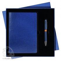 Подарочный набор «River side» Portobello, сине-оранжевый