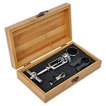 Набор для вина: штопор, нож для срезания фольги, воронка, каплеуловитель