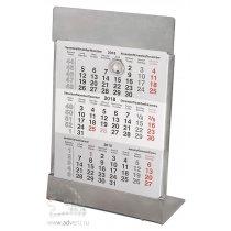 Календарь настольный на 2 года серебристый