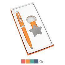 Набор «Звезда»: шариковая ручка, брелок