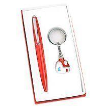 Набор «Домик»: шариковая ручка, брелок