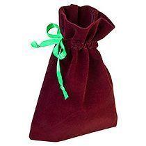 Подарочный мешок, бордовый