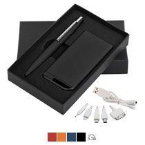 Набор ручка c флеш-картой + зарядное устройство 4000 mAh в футляре