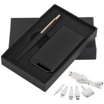 Набор ручка c флеш-картой 8Гб + зарядное устройство 4000 mAh в футляре