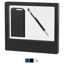 Набор ручка «Star» + зарядник «Theta» 4000 mAh в черном футляре