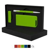 Набор ручка «Clas» + флеш-карта «Case» 8 Гб + зарядное устройство «Theta» 4000 mAh в футляре