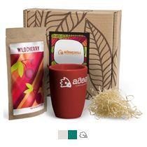 #ужеподарок «Чай, картон и бордовый силикон»