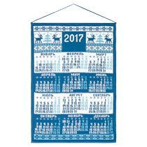 Вязаный календарь «Норвегия» на 2017 год