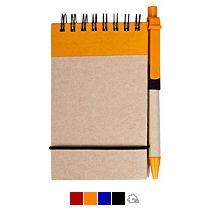 Блокнот на кольцах «Eco note» c ручкой