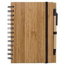Блокнот на кольцах  «Bamboo Simple» с ручкой