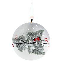 Свеча ручной работы «Снегири в лесу»
