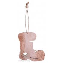 Елочная игрушка «Wood», в форме сапожка