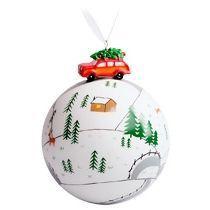 Елочный шар с фигуркой «Лесная тропинка»