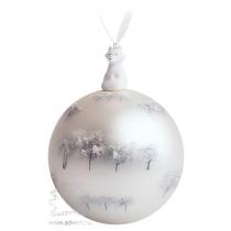 Елочный шар с фигуркой «Зимний лес»