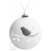 Елочный шар с фигуркой «Снегирь на ветке»