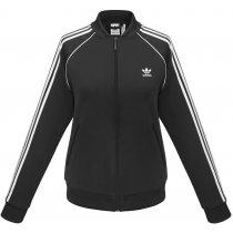Куртка тренировочная на молнии «SST TP», женская, черная