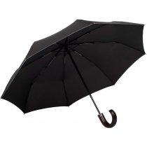 Зонт складной Samsonite «Wood Classic» с серой окантовкой, автомат, 3 сложения