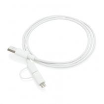 Кабель «2 в 1» с лицензированным MFi разъемом Apple Lightning