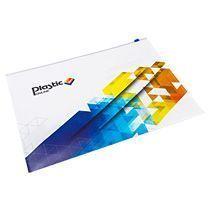 Папка-конверт на молнии с полноцветной печатью, формат А4