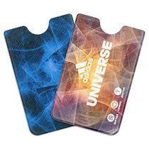 Футляр для пластиковой карты вертикальный с полноцветной печатью