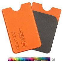 Футляр для пластиковой карты вертикальный с дополнительным карманом с тиснением