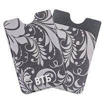 Футляр для пластиковой карты с дополнительным карманом с полноцветной печатью