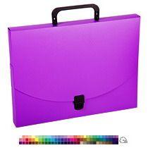 Пластиковый портфель для документов с замком