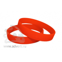 Силиконовый браслет с выпуклым / вдавленным и покрашенным логотипом