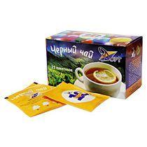 Пакетированный чай с логотипом в подарочной коробке (25 штук)
