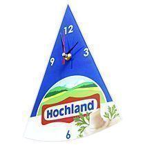 Часы стеклянные треугольные