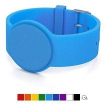 Силиконовый контрольный RFID браслет с застежкой