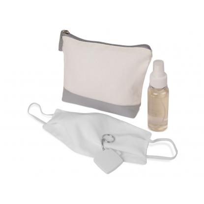 Набор средств индивидуальной защиты «Плэйн» под нанесение - цвет серый, материал полиэстер (K-112010) - купить оптом | Адверти