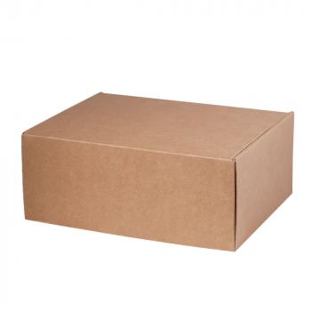 Подарочная коробка для набора универсальная, малая, крафт, в закрытом виде