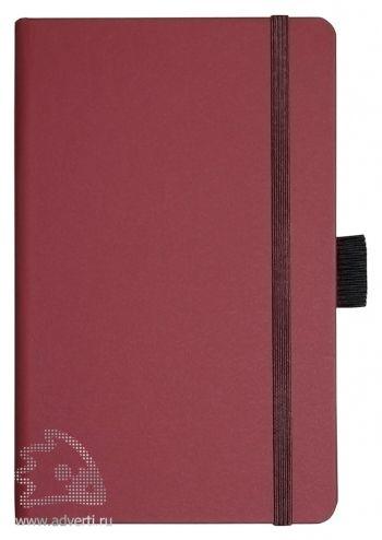 Записная книжка «Compact», Portobello, бордовая