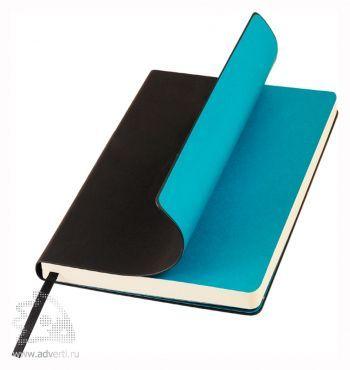 Ежедневник недатированный А5, Portobello Trend, Sky, черный с синим