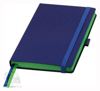 Ежедневники «Blue ocean», синие со светло-зеленым