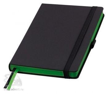Ежедневники «Space», Portobello Trend, черные со светло-зеленым
