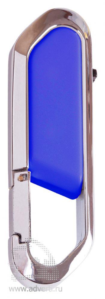 Флеш-память с карабином, синяя