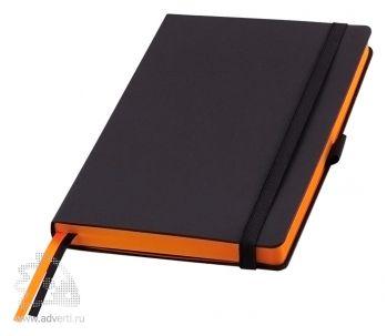 Ежедневники «Space», Portobello Trend, черные с оранжевым