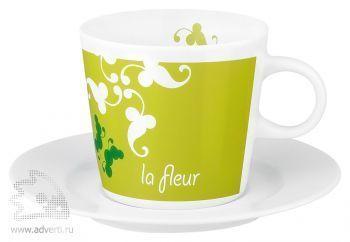 Кофейная пара «Fancy Cafe Set», чашка+блюдце, фарфор