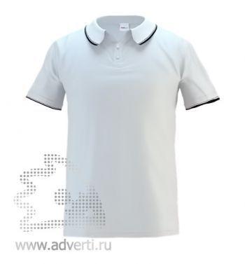 Рубашка поло «Stan Trophy», мужская, белая с черным