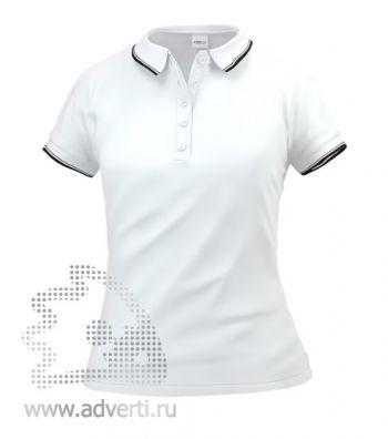Рубашка поло «Stan Trophy W», женская, белая с черным